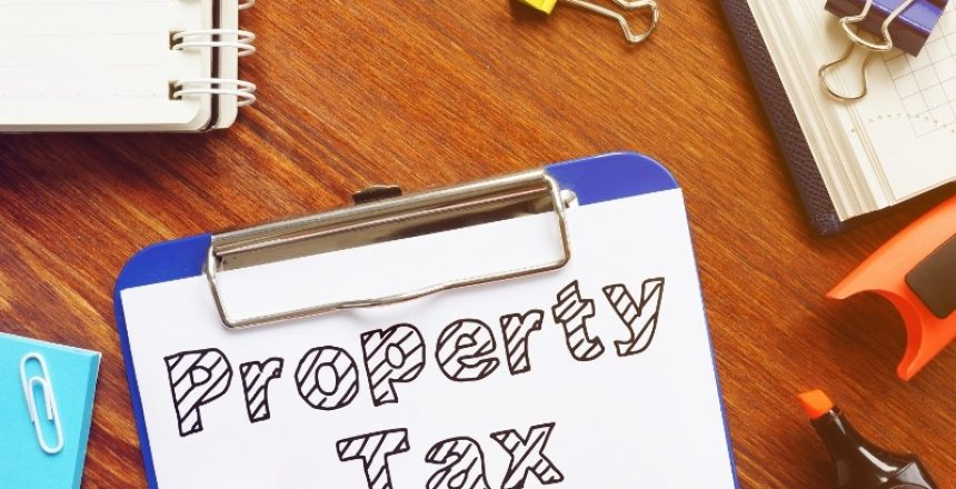 Property Tax is shown on the conceptual business photo