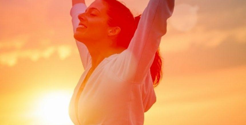 Enjoying freedom and life on sunset