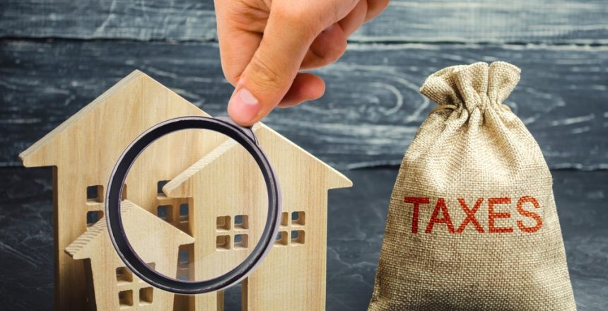 shutterstock_1378362890 - Property Tax Sack